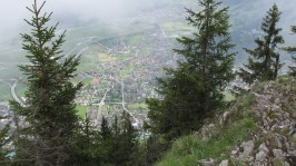 Tiefblick nach Interlaken