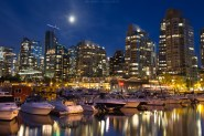 Coal harbour by night