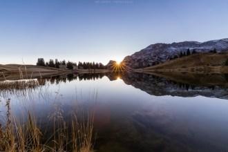 Sonnenaufgang am Seebergsee