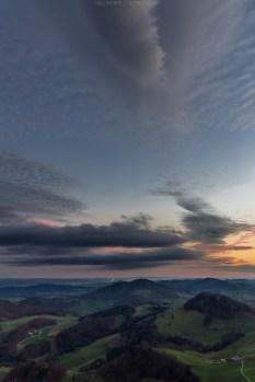 Schöne Wolkenformationen