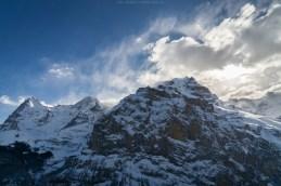 Wolkenstimmung an der Jungfrau