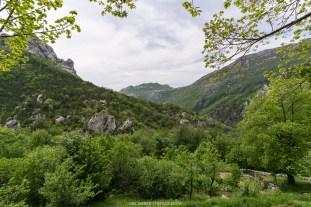 Panorama von der Berghütte Ivancev Dom