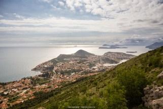 Blick vom Hausberg Srd auf die Dubrovnik Rivera