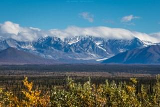 Blick auf die Alaska Range