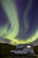 Campen unter dem Nordlicht