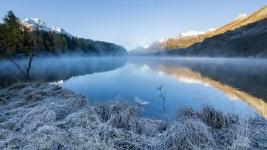 Bodenfrost am Silsersee