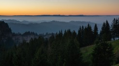 Abendrot über dem Jura