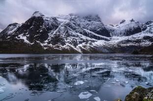 Halb zugefrorener Storvatnet