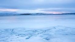 Früh morgens am gefrorenen Torneträsk