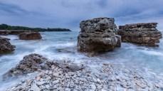 Blaue Stunde an Kroatiens Küste