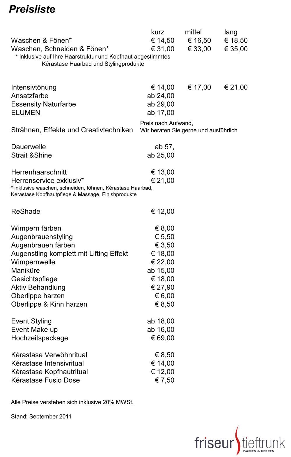 Dauerwelle Preis Friseur  Friseur