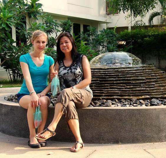 Girls in Vientiane, Laos