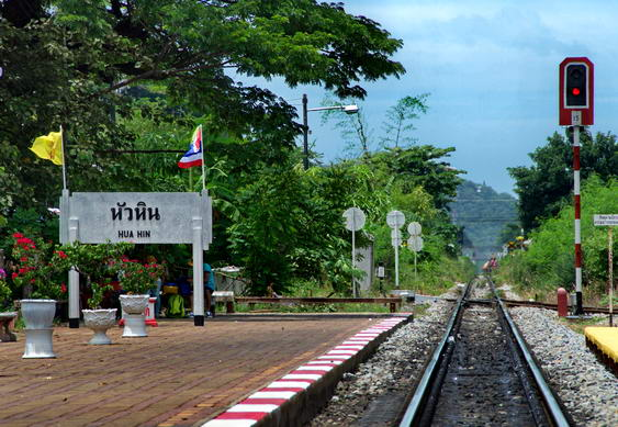 Hua Hin to Bangkok Train Tracks