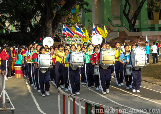 Marching Band at this Thai School Sports Day
