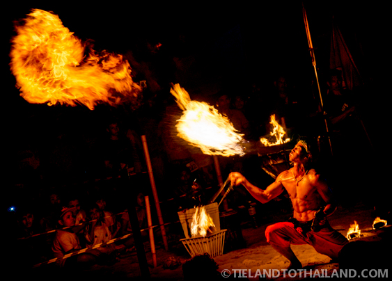 Spitting Fire at Krabi Rock and Fire International Contest