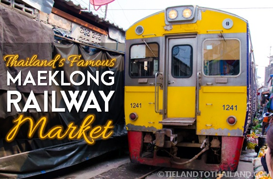 Maeklong Railway in Samut Songkram, Thailand