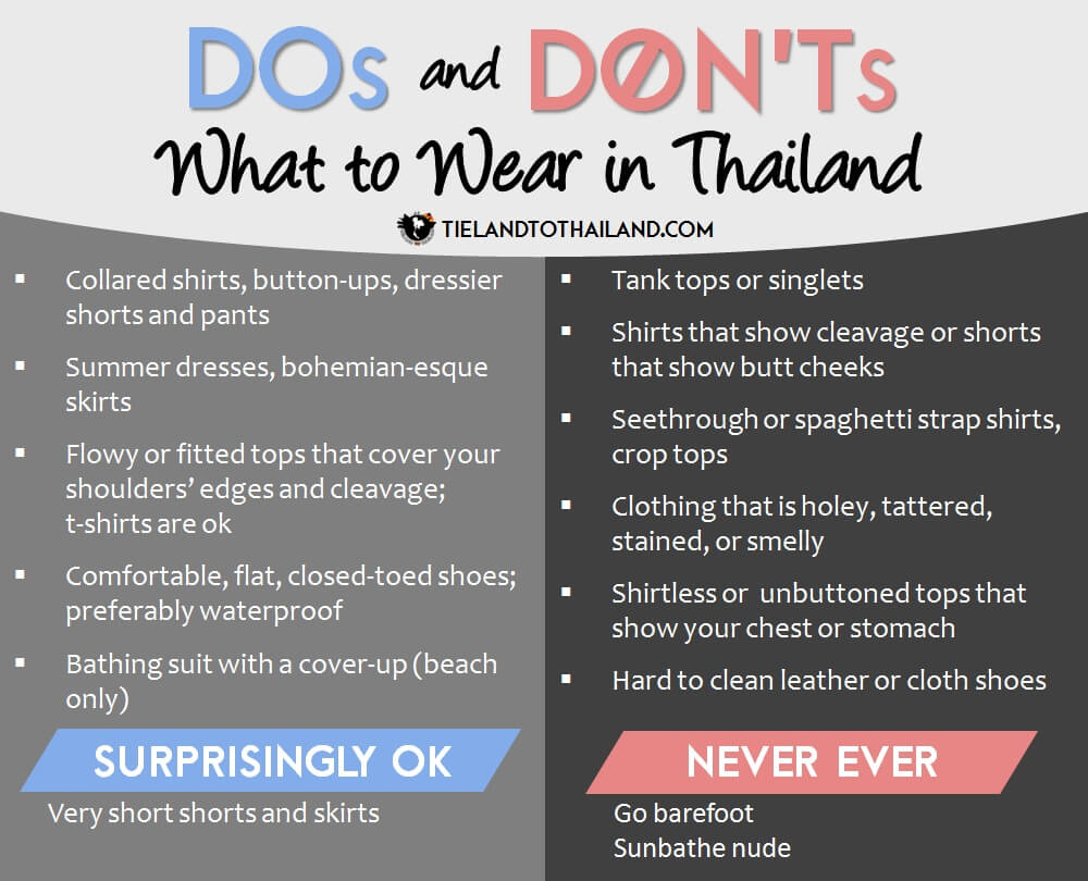 What to Wear in Thailand: Dos and Don'ts - Tieland to Thailand
