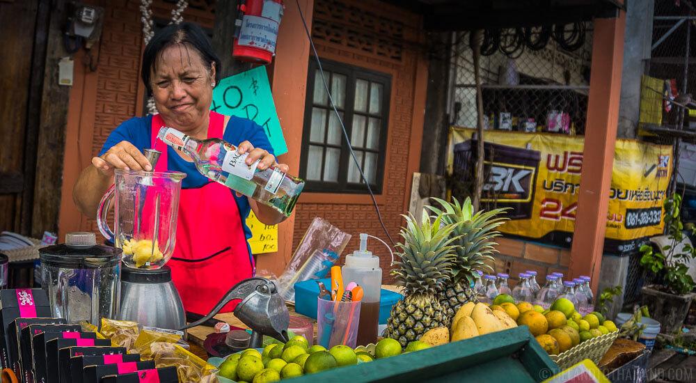 Old Town Koh Lanta Smoothie Lady