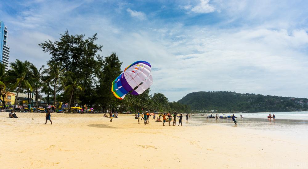 Parasailing on Patong Beach, Phuket