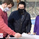 """Leo Nardini visitó el polideportivo de Ing. Pablo Nogués: """"estamos en la construcción de la cobertura de la pileta para poder climatizarla"""""""