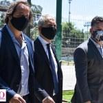 Menéndez recibió al ministro Alak y visitaron el predio donde se construirá el Departamento Judicial, las Penitenciarías y la Alcaldía