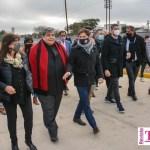 Mario Ishii recibió al Gobernador Kicillof, suscribieron convenios y fue inaugurada la obra integral de la calle Fraga