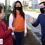 """Leo Nardini: """"Estamos haciendo la apertura de una nueva obra finalizada en el barrio 'Parque Alvear II' de Villa de Mayo"""""""