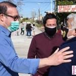 """Nardini y Vivona recorrieron la obra de la calle José Marti: """"En breve, acá se va a construir un Centro de Desarrollo Infantil"""""""