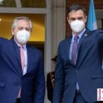 """Presidente Fernández: """"Con el presidente de España Pedro Sánchez nos hemos acompañado en la respuesta a la pandemia"""""""