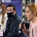 """Leo Nardini y Mara Ruiz Malec participaron junto a jóvenes de la charla """"Buscar trabajo en un mundo 3.0"""""""