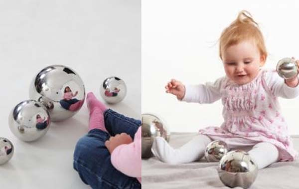 bolas reflectantes para bebés