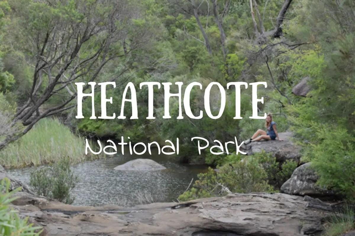 Senderos en Heathcote National Park.