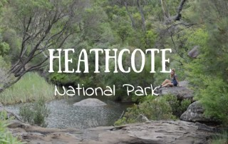 Senderos en Heathcote National Park.