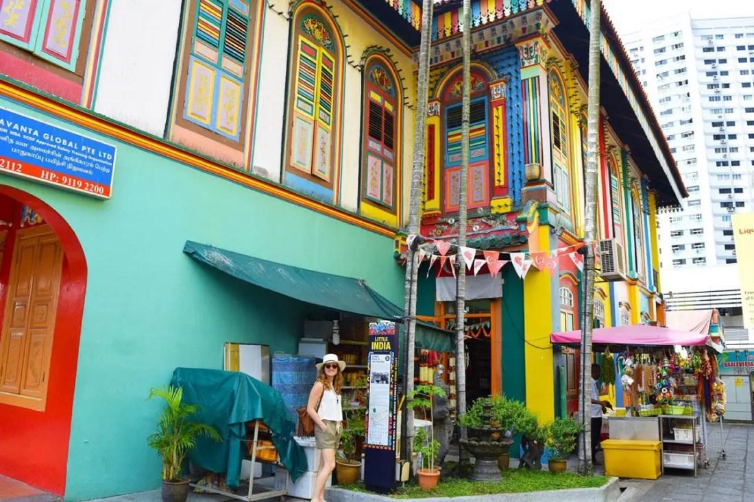 barrio de little india, singapur