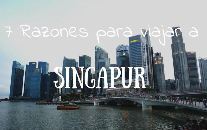 7 razones por las que viajar a Singapur portada