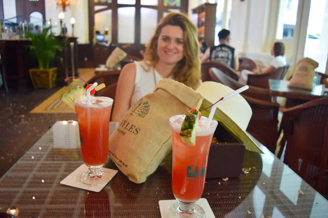 Singapur Sling en Raffles Hotel
