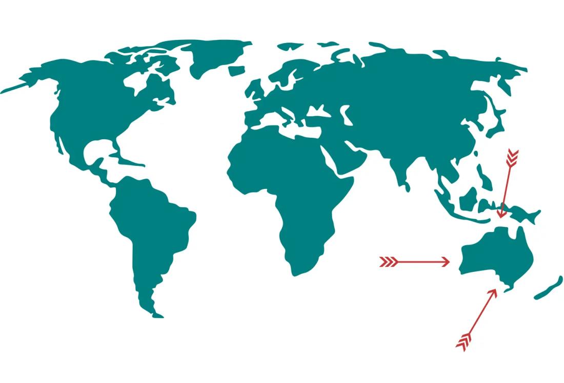 donde queda australia mapa