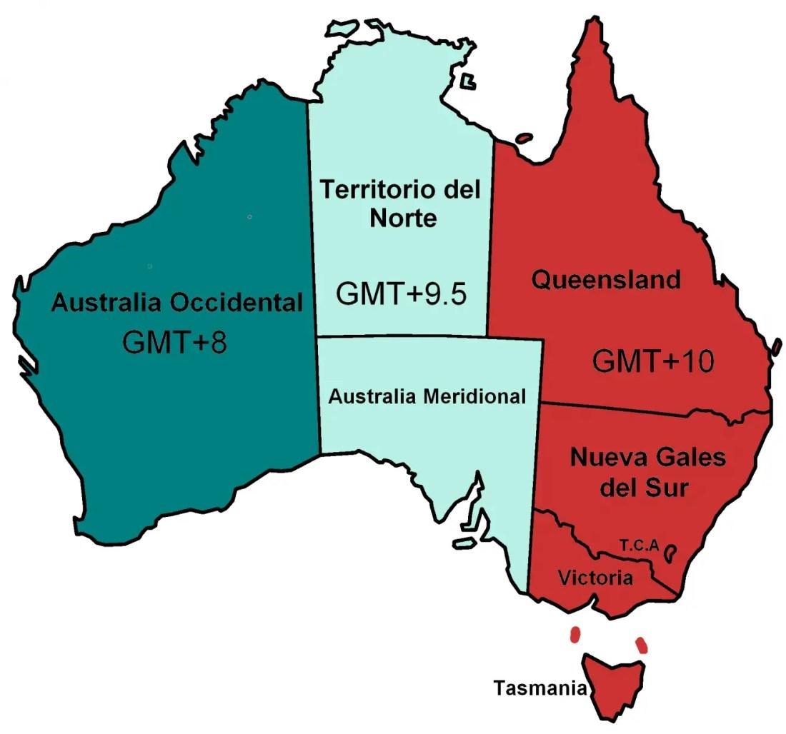 australia diferencia horaria