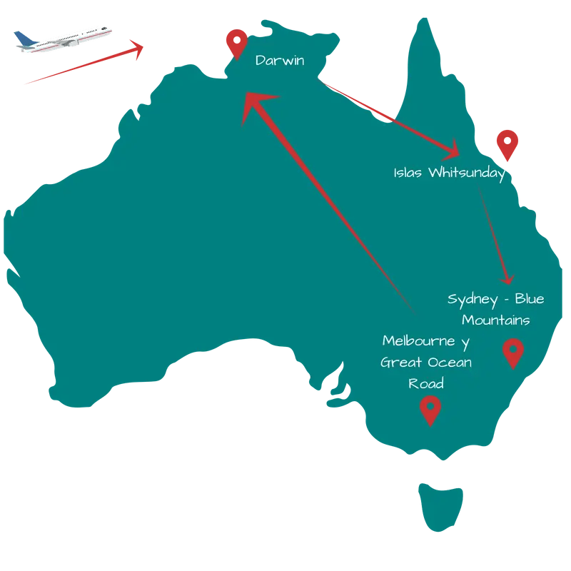 Recorrer Austalia en 15 días. Itinerario 2