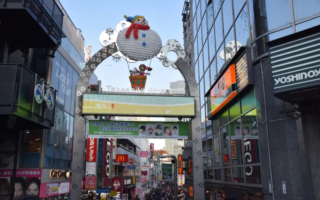 calle Takeshita en el Barrio de Harajuku. Japan