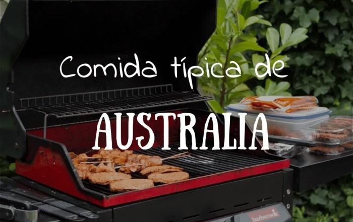 Comida tipica de Australia tiempo de explorar
