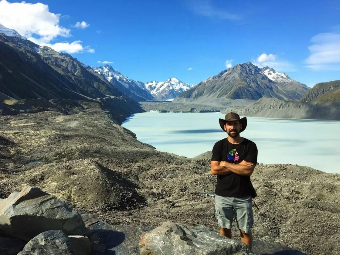 Glaciar Tasman Isla Sur Nueva Zelanda