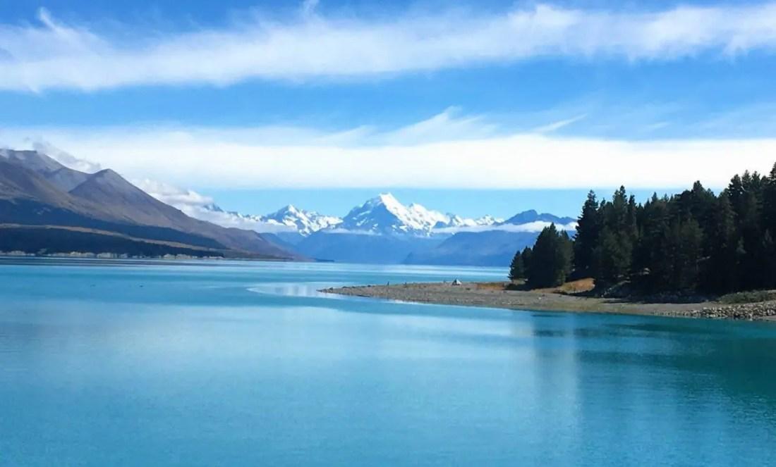 Lake Pukaki y Monte Cook Isla Sur de Nueva Zelanda
