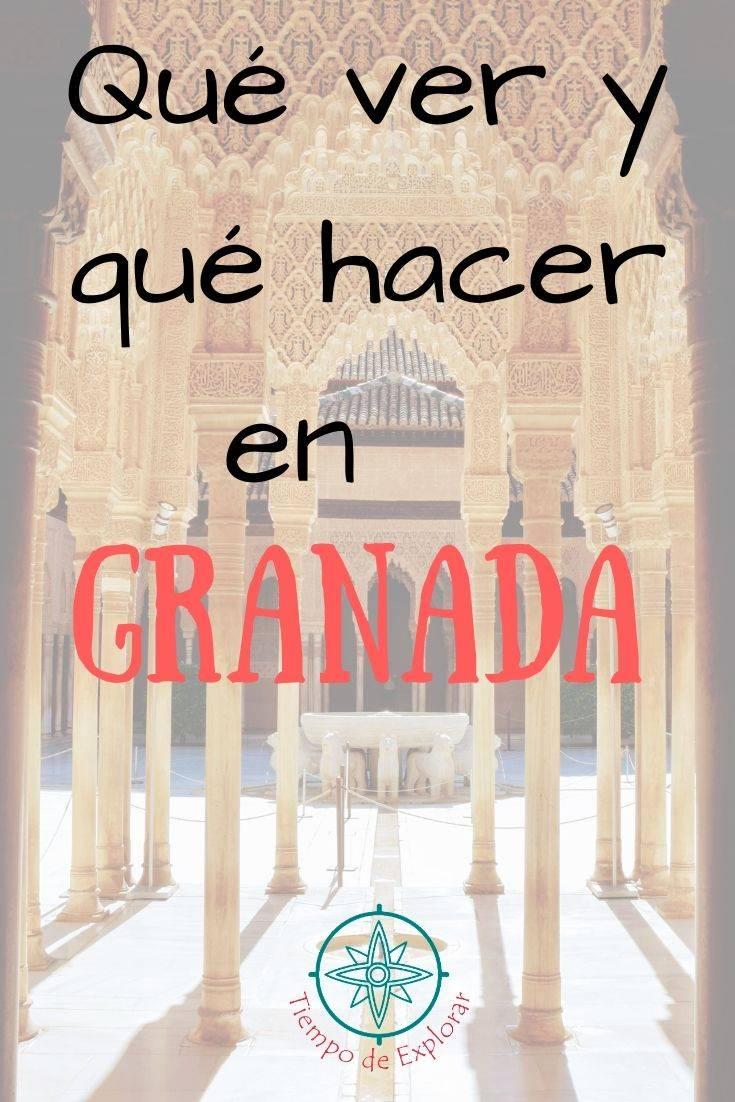 Que ver y que hacer en Granada Pinterest