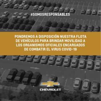 General Motors en Argentina pone a disposicion su flota