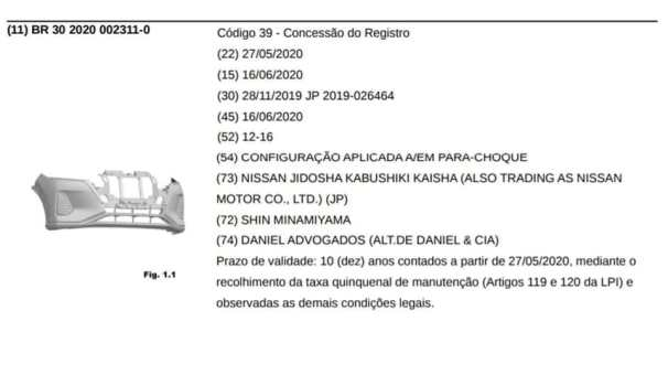 Nissan_Kicks_2021_registro_INPI_Brasil_3