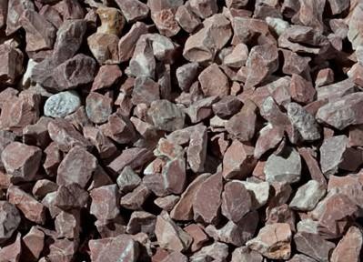 piedra triturada rojo alicante