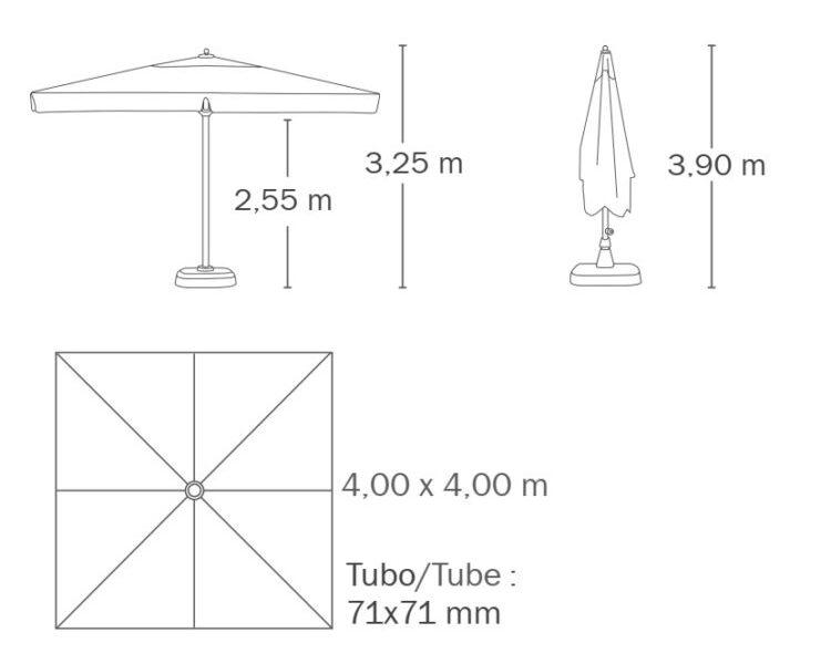 medidas parasol rio ezpeleta