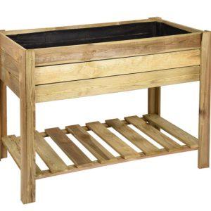 huerto urbano rectangular madera