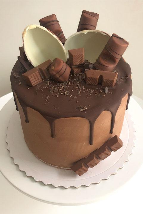 Tarta dripcake muerte por chocolate